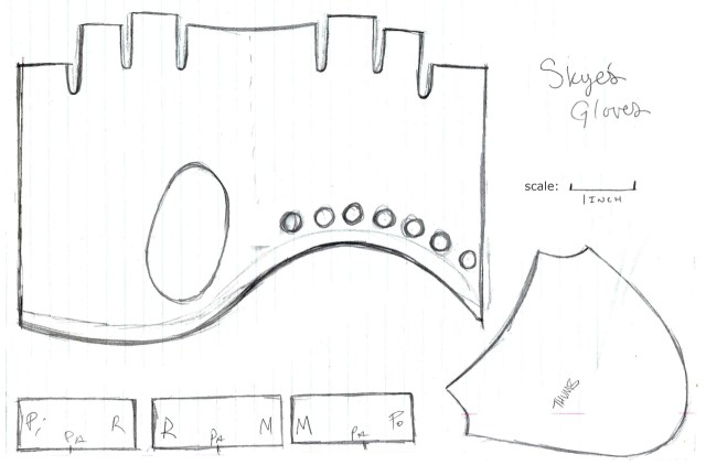 Glove Sewing Pattern Adreecosplays Skyes Fingerless Leather Gloves Patternbased Off Of