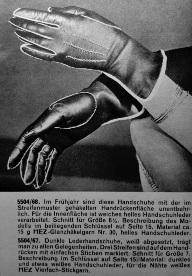 Glove Sewing Pattern Of Dreams And Seams 1950s Hand Sewn Leather Gloves