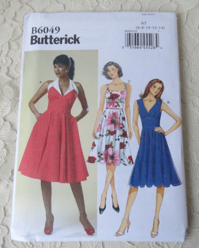 Halter Neck Sewing Pattern Butterick Sewing Pattern B6049 Summer Halter Neck More Dress Etsy