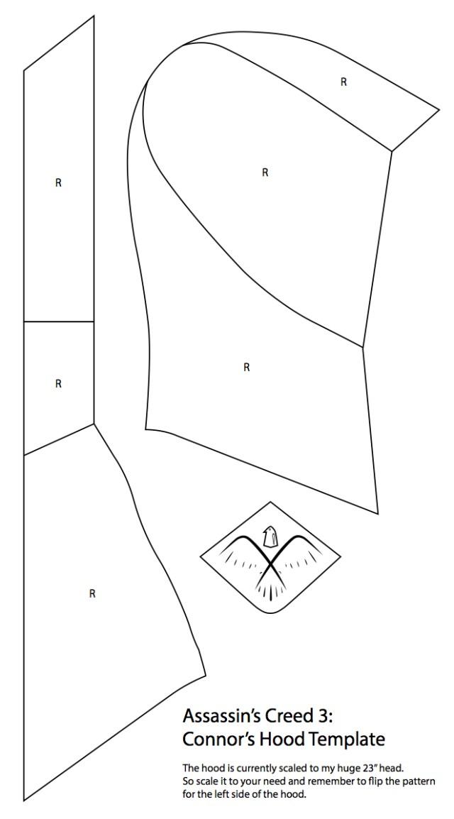 Hood Sewing Pattern Connor Hood Template Yulittledeviantart On Deviantart