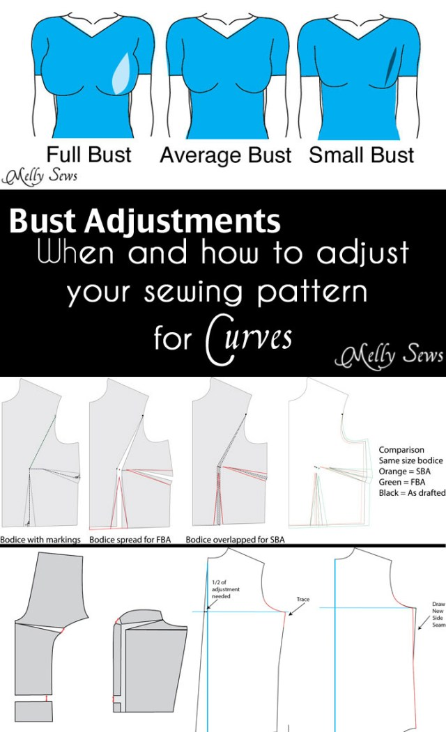 How To Make A Sewing Pattern How To Do A Bust Adjustment Melly Sews