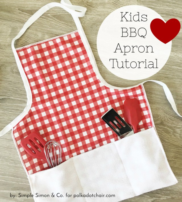How To Make A Sewing Pattern How To Make A Kids Bbq Apron The Polka Dot Chair