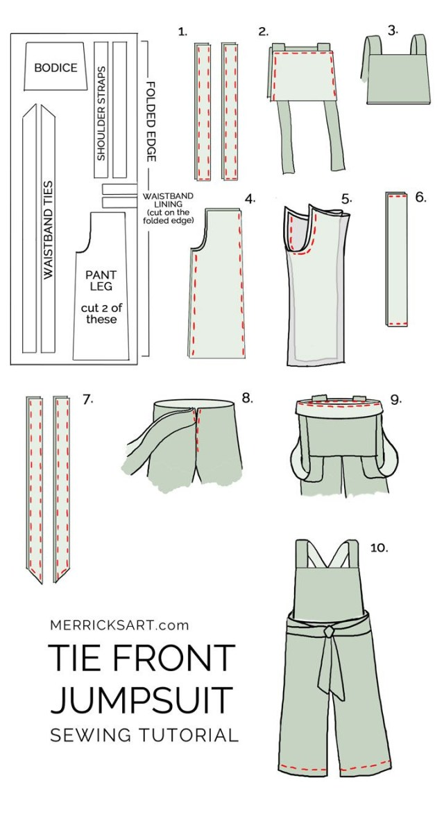 How To Make A Sewing Pattern How To Make A Summer Jumpsuit Intermediate Sewing Tutorial Ive