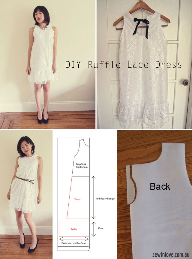 How To Make Sewing Patterns Free Pattern How To Make A Ruffle Lace Dress