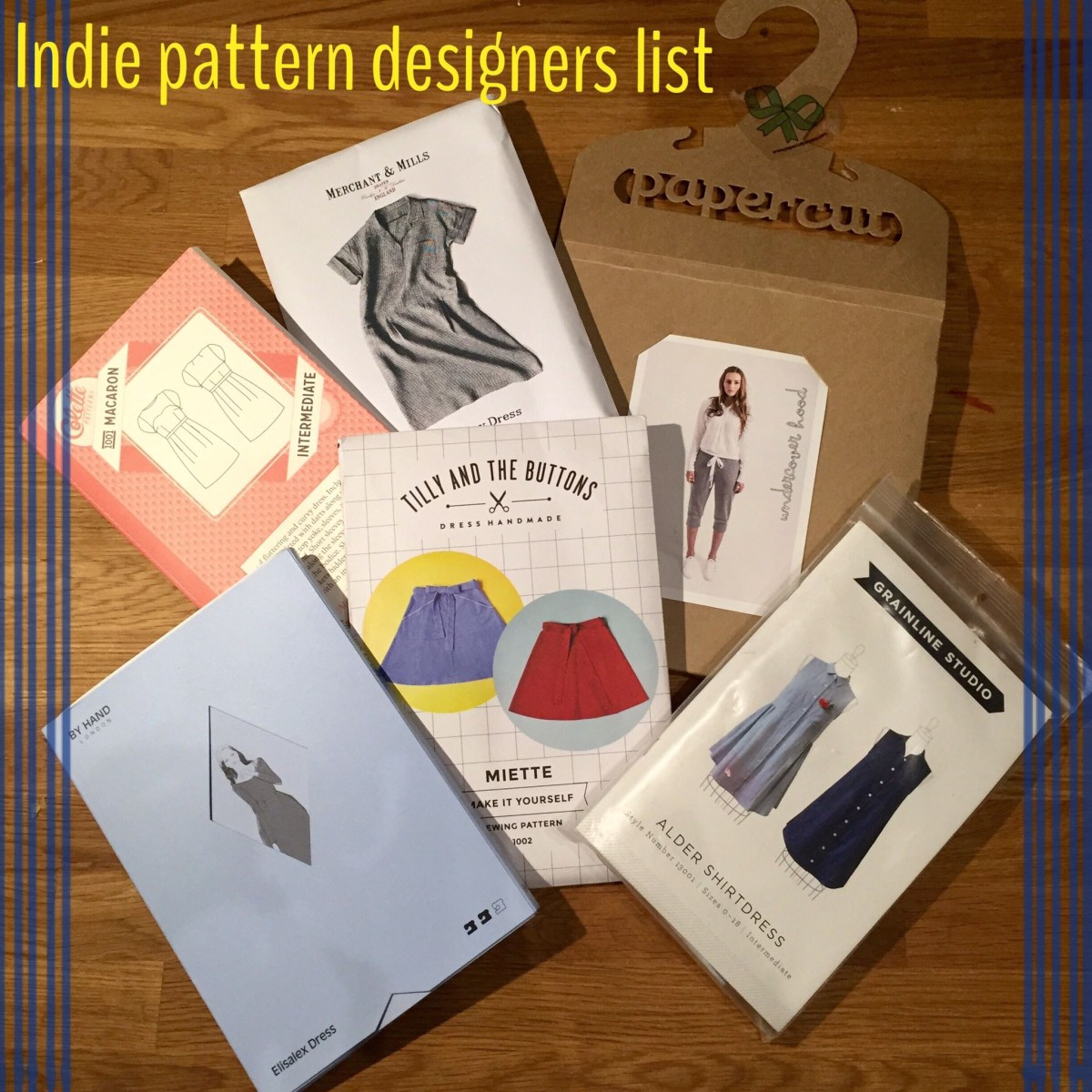 Indie Sewing Patterns Indie Sewing Pattern Designers List Curate And Create
