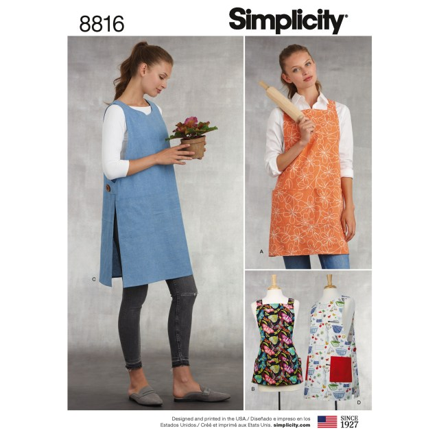 Indie Sewing Patterns Simplicity 8816 Misses Aprons Sewing Patterns Sewing Patterns
