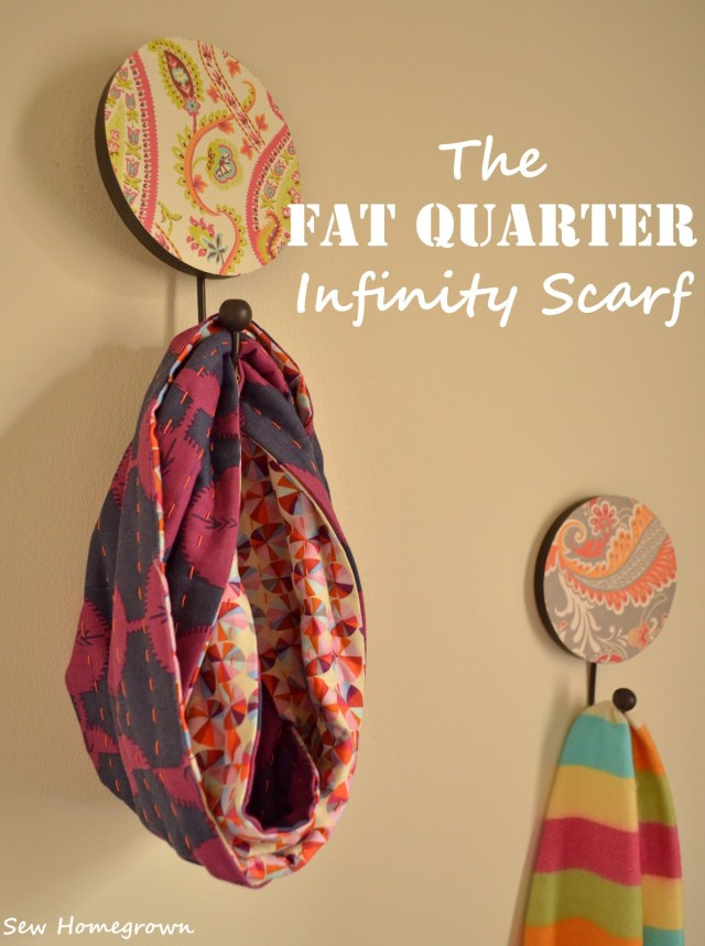 Infinity Scarf Sewing Pattern Sew Homegrown Diythe Fat Quarter Infinity Scarf