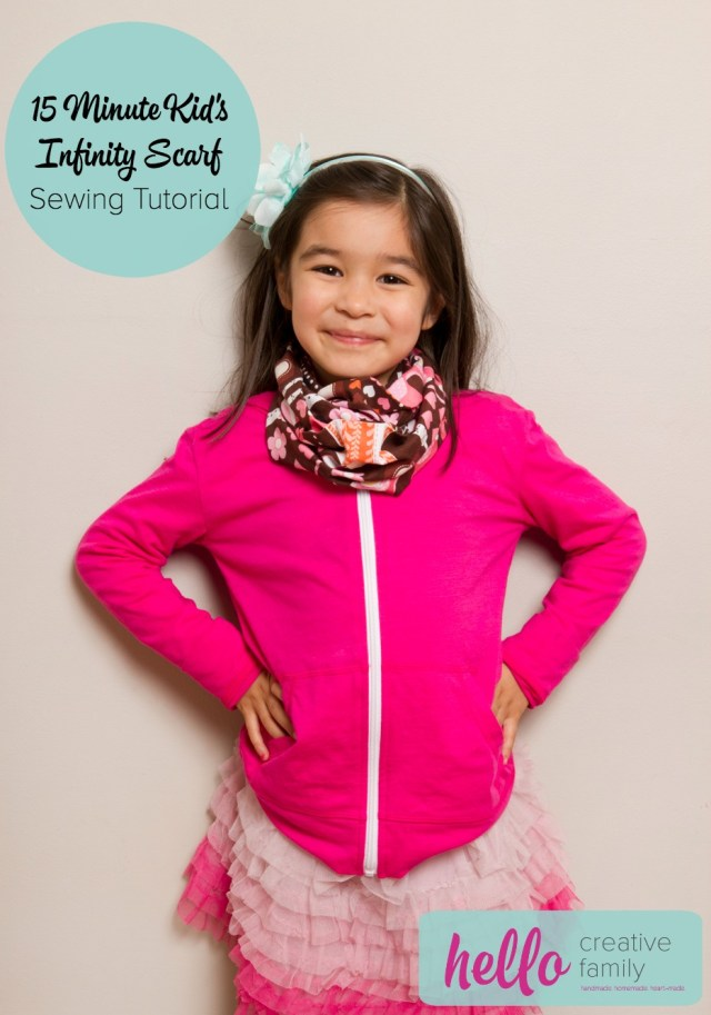 Infinity Scarf Sewing Pattern Sewing Project 15 Minute Kids Infinity Scarf Sewing Tutorial