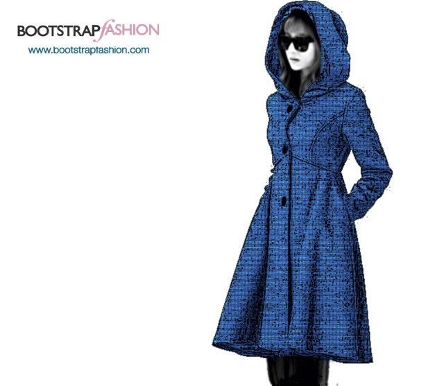 Jacket Sewing Patterns Bootstrapfashion Custom Fit Pdf Sewing Pattern Of The Coat