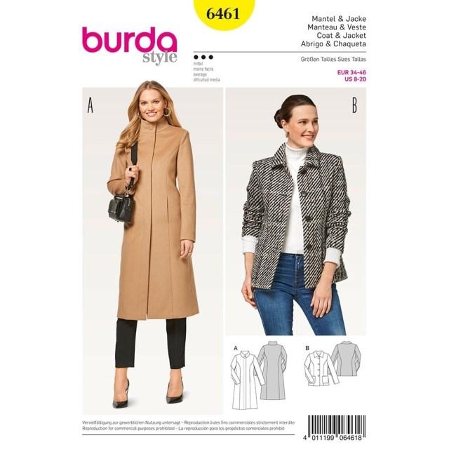 Jacket Sewing Patterns Misses Coats Burda Sewing Pattern 6461 Sew Essential