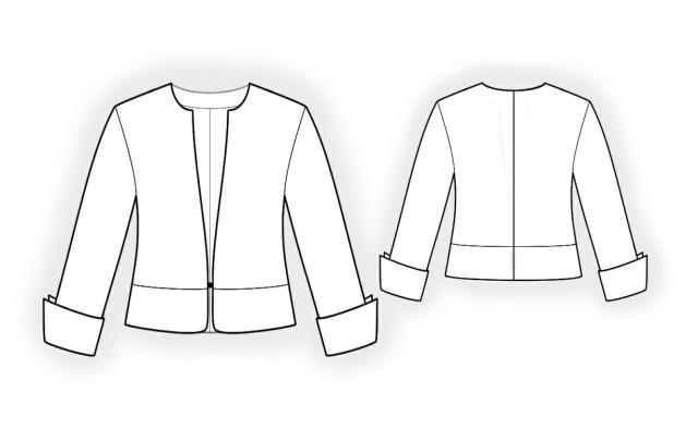 Jacket Sewing Patterns Short Jacket Sewing Pattern 4108 Made To Measure Sewing Pattern