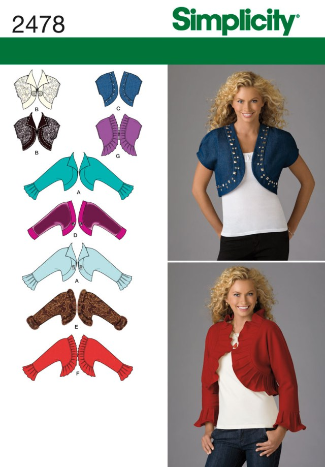 Jacket Sewing Patterns Simplicity 2478 Misses Jackets