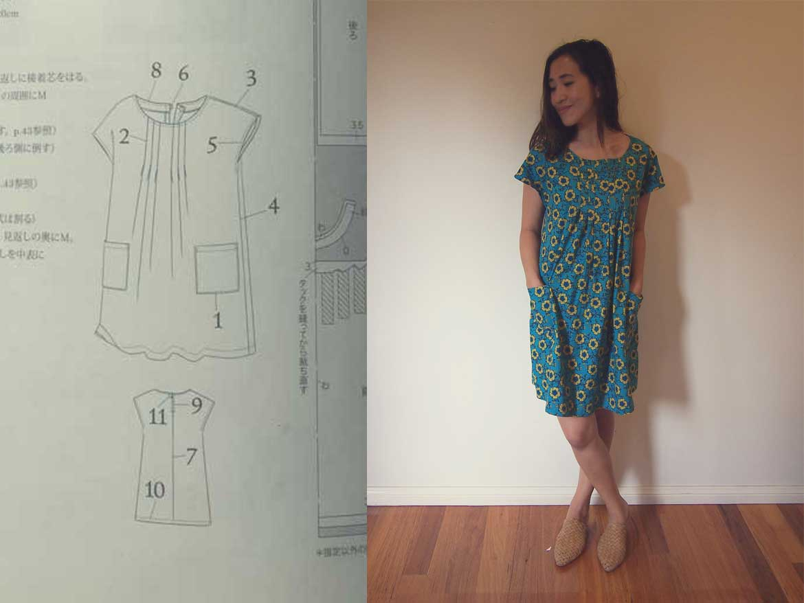 Japanese Sewing Patterns Love Dresses With Pockets This Sewing Pattern Is For You Sew In Love