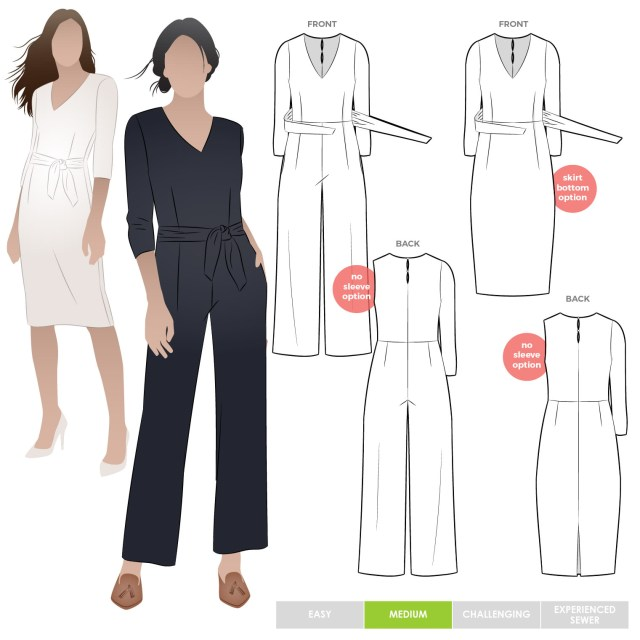 Jumpsuit Sewing Pattern Brice Knit Jumpsuit Style Arc