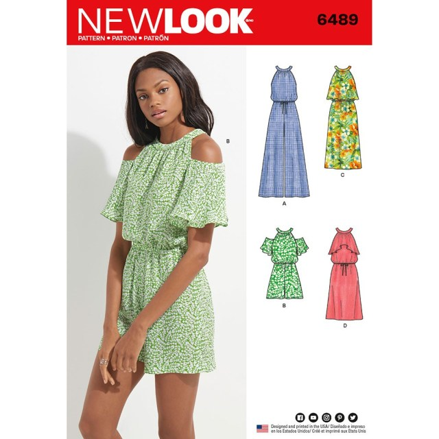 Jumpsuit Sewing Pattern Misses Jumpsuit Romper And Dress New Look Sewing Pattern 6489 Sew