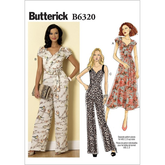Jumpsuit Sewing Pattern Misses Sweetheart Neckline Dress And Jumpsuits Butterick Sewing