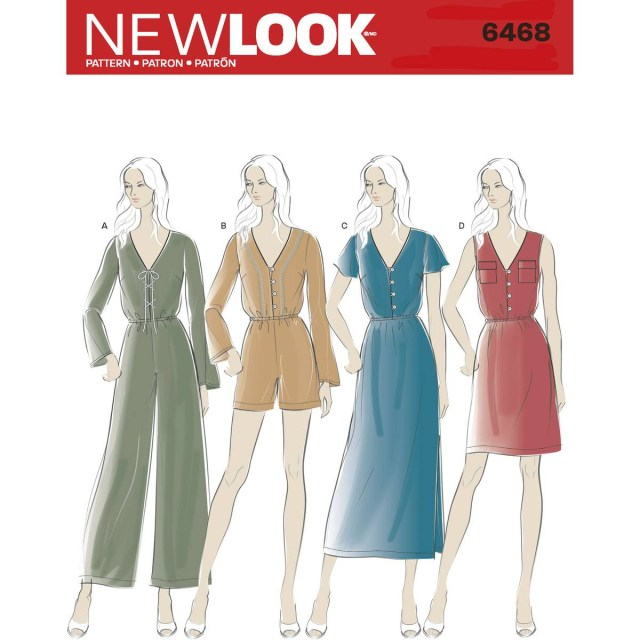 Jumpsuit Sewing Pattern New Look Womens Dress And Jumpsuit Sewing Pattern 6468 Hobcraft