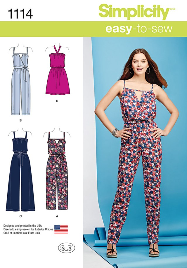 Jumpsuit Sewing Pattern Simplicity 1114 Misses Easy Dress And Jumpsuits