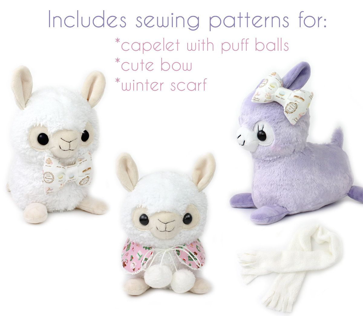 Kawaii Sewing Patterns Alpaca Sewing Pattern Pdf Sewing Pattern Alpaca Llama Stuffed