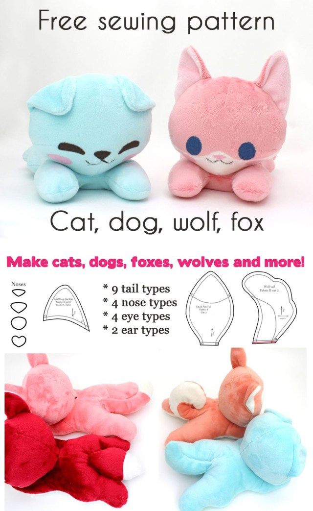 Kawaii Sewing Patterns Free Kawaii Sewing Patterns To Make Your Own Stuffed Animals Dog