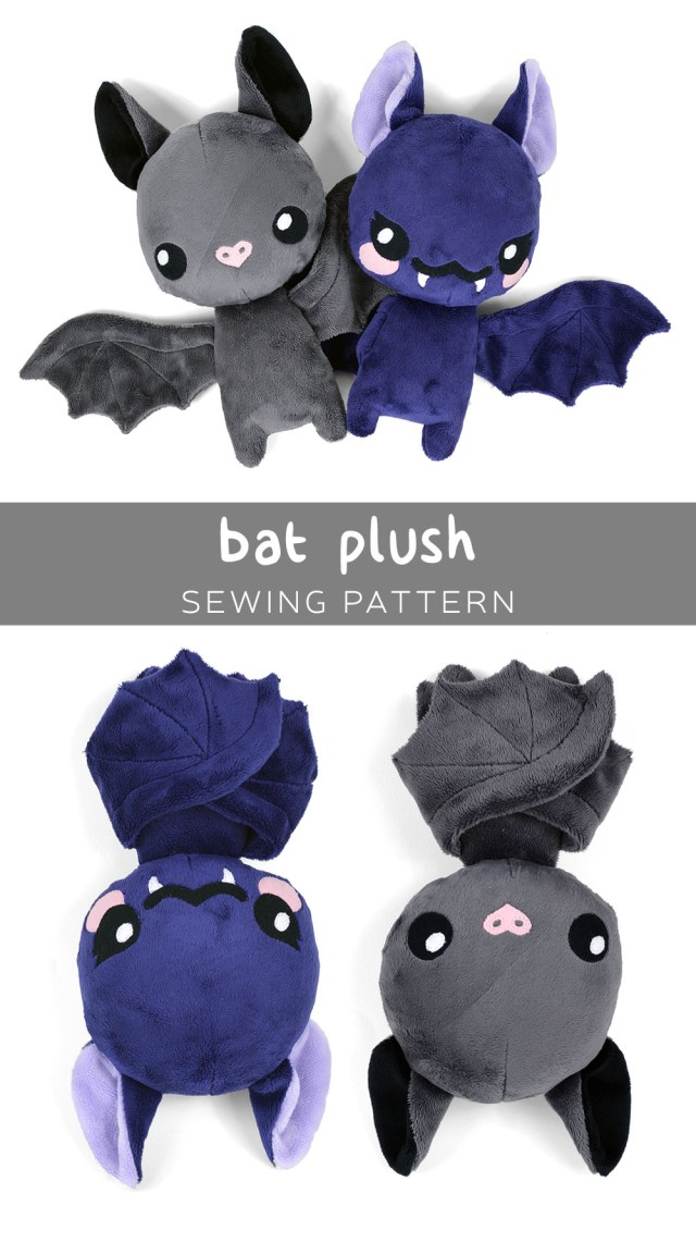 Kawaii Sewing Patterns Free Pattern Friday Bat Plush Choly Knight