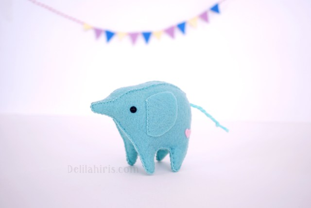 Kawaii Sewing Patterns Kawaii Felt Elephant Pattern Delilah Iris
