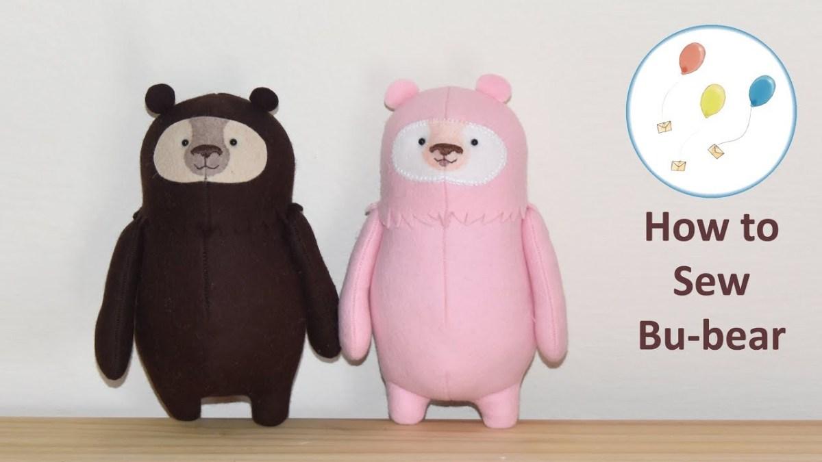 Kawaii Sewing Patterns Lets Make Bu Bear Cute Easy Felt Teddy Bear Sewing Pattern Kawaii