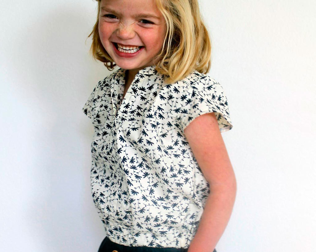 Kids Patterns Sewing Daughters Childrens Clothing Series Little Girls Blouse And Skirt