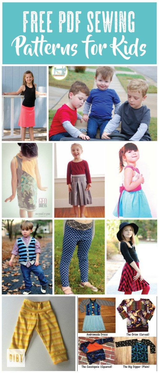 Kids Patterns Sewing Daughters The Best Free Kids Pdf Sewing Patterns The Di Club