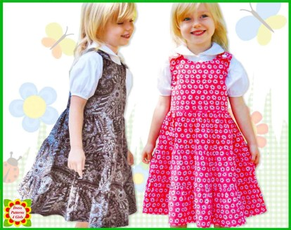 Kids Patterns Sewing Daughters Twirl 3 Tier Jumper Dress Pattern For Girls Free Etsy