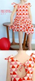 Kids Patterns Sewing Free Knot Dress Free Pattern The Sewing Rabbit