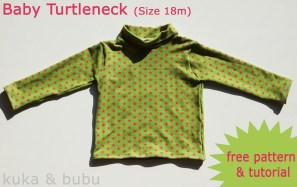 Kids Patterns Sewing Free Turtleneck For Babies Tutorial And Free Pattern Sewing 4 Free