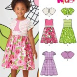 Kids Patterns Sewing New Look 6118 Childrens Dress And Shrug