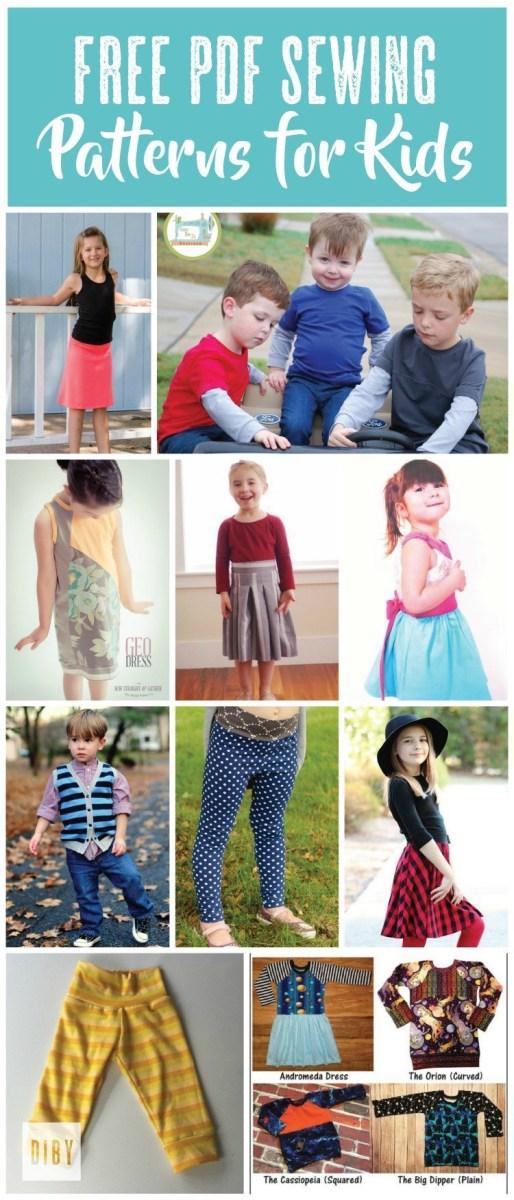 Kids Patterns Sewing The Best Free Kids Pdf Sewing Patterns The Di Club