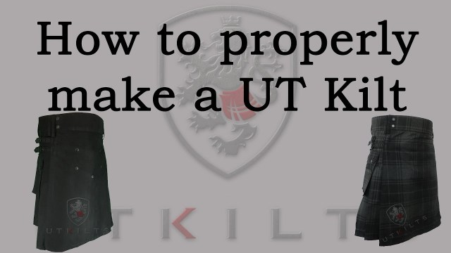 Kilt Sewing Pattern How To Properly Make A Utility Kilt Youtube