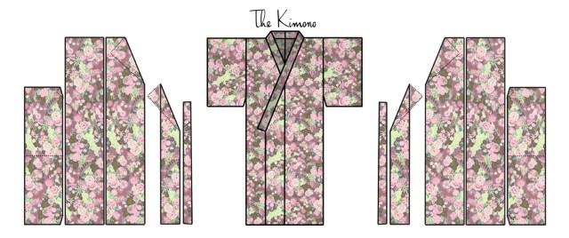 Kimono Sewing Pattern Zero Waste Kimono Pattern
