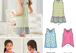 Knit Sewing Patterns Kids New Look 6296 Childs And Girls Shorts And Knit Dress Or Top