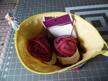 Knitting Bag Sewing Pattern Projects Beccas Crazy Projects Sewing Up A Knitting Project Bag
