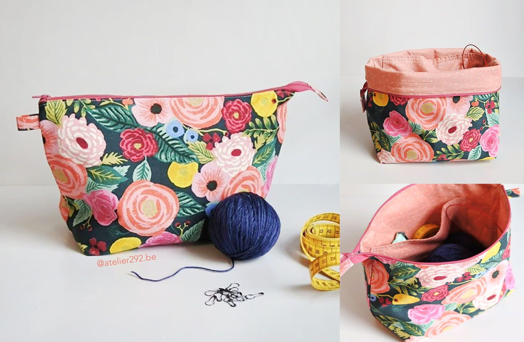 Knitting Bag Sewing Pattern Projects Esme Project Bag ...