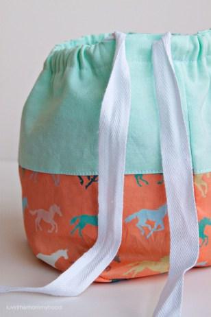 Knitting Bag Sewing Pattern Projects Free Tutorial Drawstring Bags Costura Bolsos Carteras