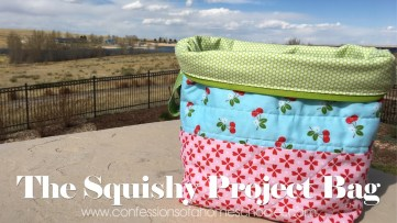 Knitting Bag Sewing Pattern Projects The Squishy Project Bag Youtube