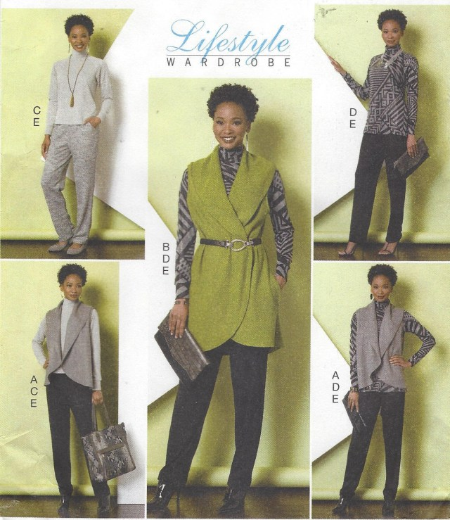 Lagenlook Sewing Patterns Untitled 1990s Dkny Vogue Sewing Pattern 1809 Womens Fitted