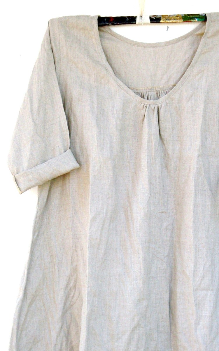 Linen Tunic Sewing Pattern Linen Smock Try With Japanese Pattern Using Fluted Sleeves At Elbow