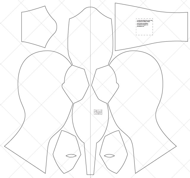 Mask Sewing Pattern Dali Lomo How To Make Deadpool Movie Mask Costume
