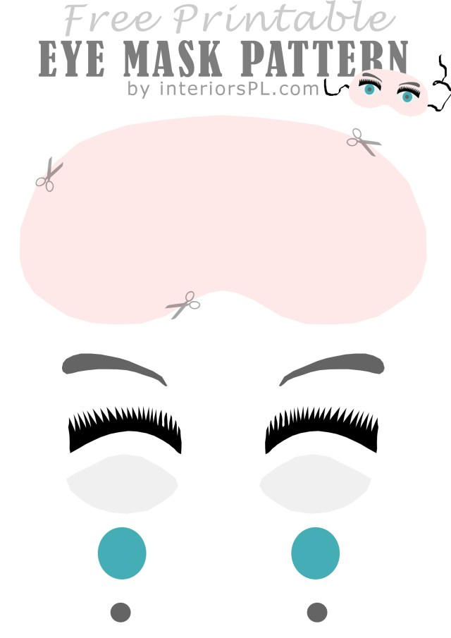 Mask Sewing Pattern Free Pattern For An Eye Mask Pin Now Read Later Sewing