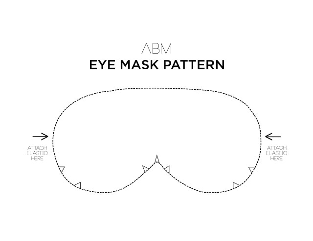 Mask Sewing Pattern Make Your Own Eye Mask Sewing Sewing How To Make Diy