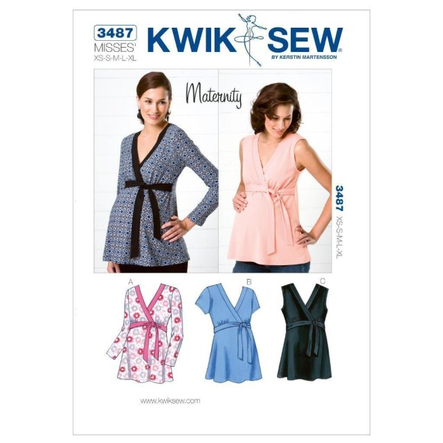 Maternity Sewing Patterns Kwik Sew Sewing Pattern Maternity Tops Kerstin Martensson Size Xs