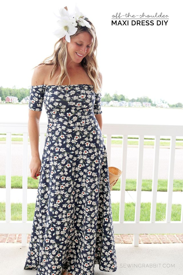 Maxi Dress Sewing Pattern Off The Shoulder Maxi Dress Diy Sewing Pinterest Sewing