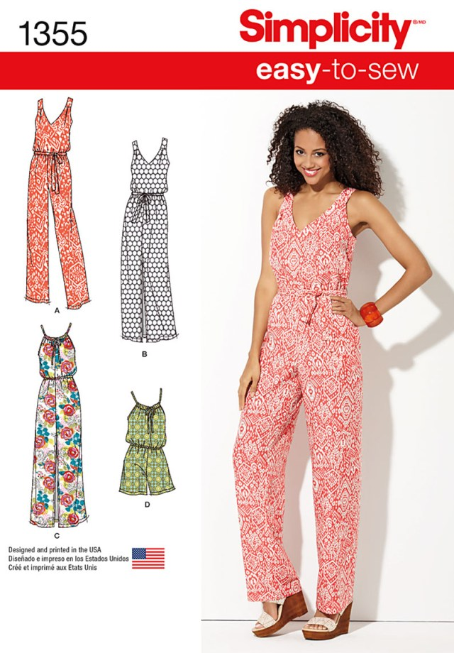 Maxi Dress Sewing Pattern Simplicity 1355 Misses Maxi Dress And Long Or Short Jumpsuit