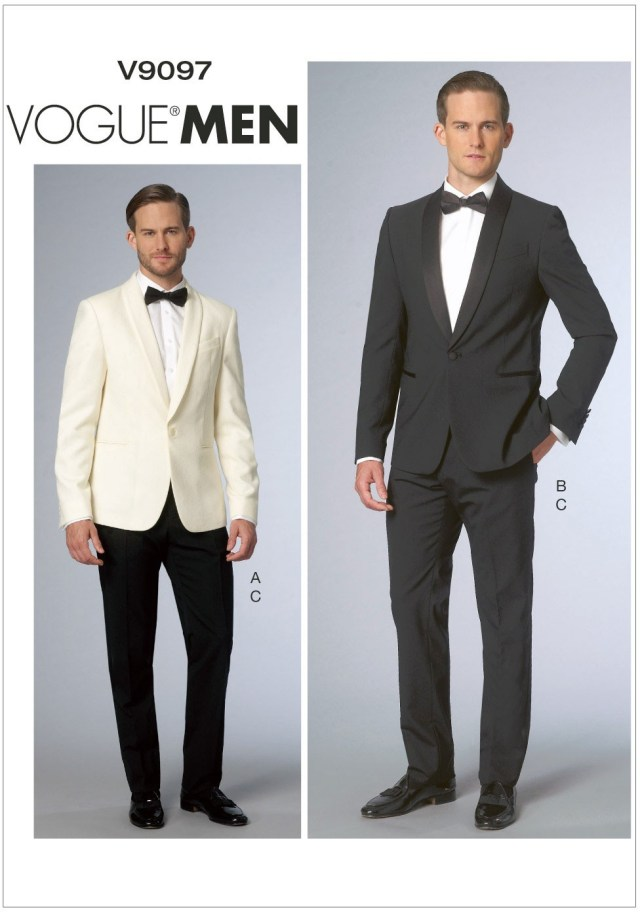 Mens Sewing Patterns Mens Jacket And Trousers Vogue Sewing Pattern No 9097 Sew Essential